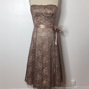 BCBG MaxAzria Lace Party cocktail Wedding Dress 6